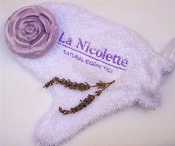 Darilni paket Lavanda rose z naravnim milom sivka